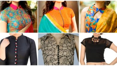 Photo of Top Beautiful Collar Neck Blouse Designs