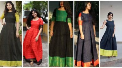 Photo of Long Dresses made out of old and Damaged Sarees