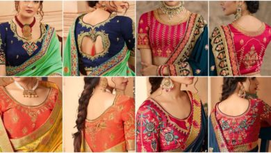 Photo of Modern Blouse Neck Designs at Back and Front