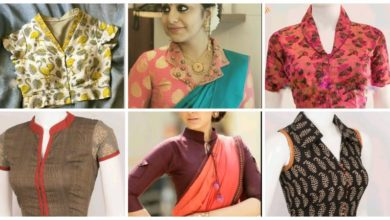 Photo of collar neck designs for blouse