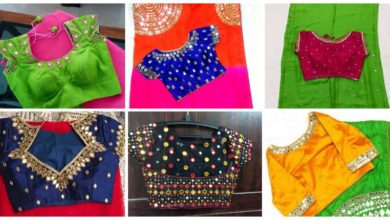 Photo of Trendy Mirror Work Blouse Designs