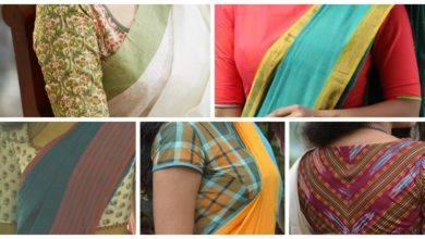 Photo of Cotton Sari Blouse Designs