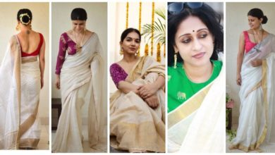 Photo of White Saris With Chic Blouses