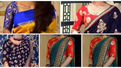 Photo of Rich look With Brocade Blouse Designs