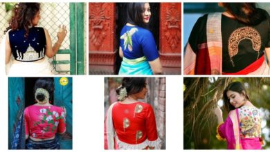 Photo of Simple thread work blouse design