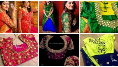 Photo of Heavy Work Silk Sari Blouses