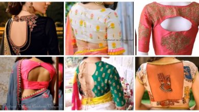 Photo of Back blouse designs