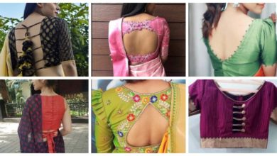 Photo of Attractive & Stylish Front& Back Blouse Designs