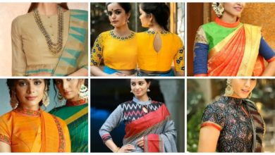 Photo of High neck blouse designs