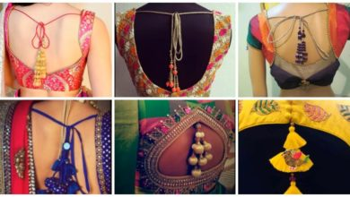 Photo of Latest Blouse Designs Tassel Hanging Design Blouse