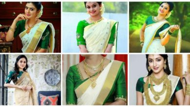 Photo of Trendy Green Kerala Saree Blouse Designs