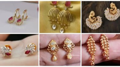 Photo of Simple Daily Wear Gold Earrings