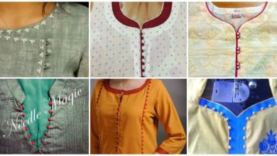 Photo of Stylish Potli button neck designs for kurtis
