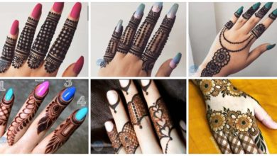 Photo of Beautiful stylish Finger Mehndi design for hands