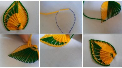Photo of Hand embroidery of a leaf or a petal