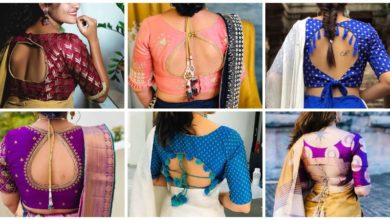 Photo of New Stylish Ideas For Blouse Back Designs