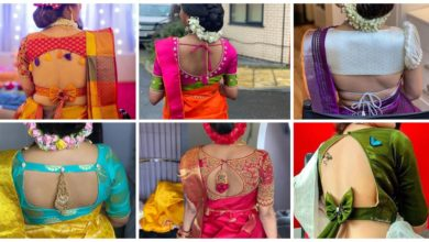 Photo of Super Stylish Sari Blouse Back Neck Designs