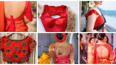 Photo of Beautiful Red Blouse Neck Designs Ideas
