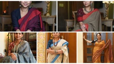 Photo of Handloom sari &blouse design
