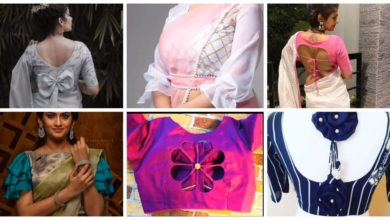 Photo of Latest Back Neck Blouse Designs