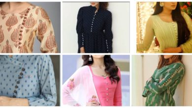 Photo of Trendy button neck and sleeves design