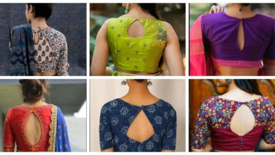 Photo of Simple blouse back neck design