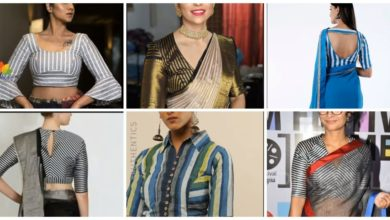 Photo of Trendy stripes blouse designs