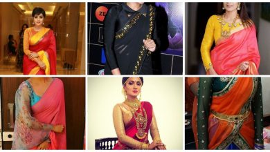 Photo of Chic Long Sleeve Saree Blouse Designs