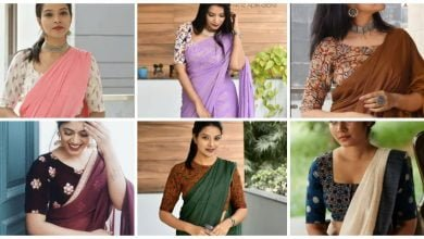 Photo of Styling plain saree with printed blouse ideas