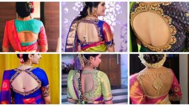 Photo of Blouse back neck design for south Indian bride