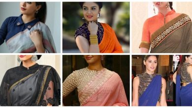 Photo of High Neck Saree Blouse Designs