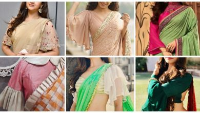 Photo of Bell Sleeves Saree Blouse Designs