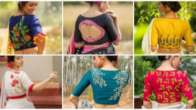 Photo of Unique Nature Inspired Blouse Designs