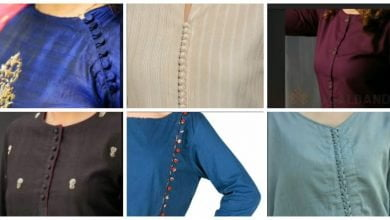 Photo of Beautiful Neck Designs With Buttons For Kurti