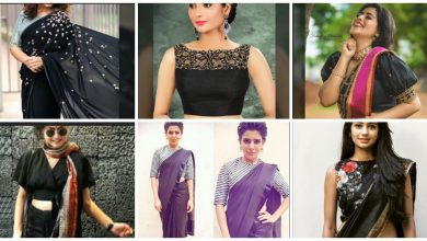 Photo of New Model Blouse Designs For Black Sarees