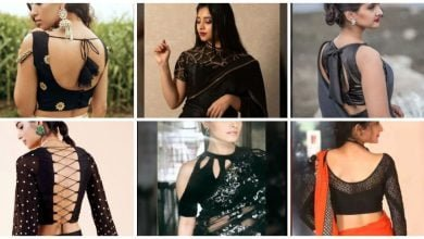 Photo of Blooming Black Blouse Designs