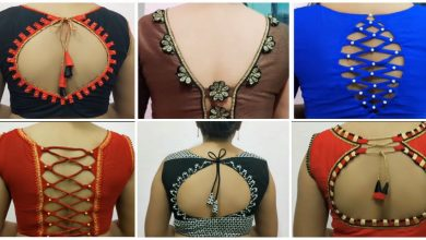 Photo of Beautiful Blouse Back Neck design