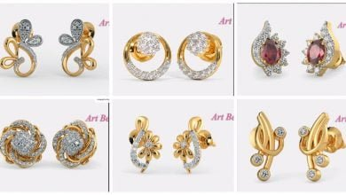 Photo of Beautiful Light Weight Small Gold Earrings Designs