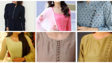 Photo of Trendy button neck  design