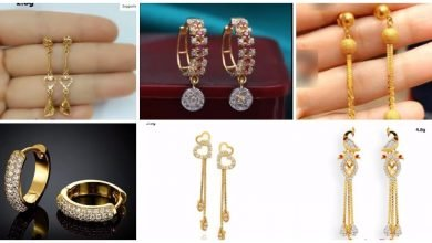 Photo of Beautiful Light Weight Gold Earrings Designs