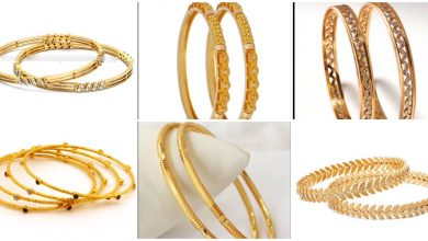 Photo of Light weight  gold bangle design