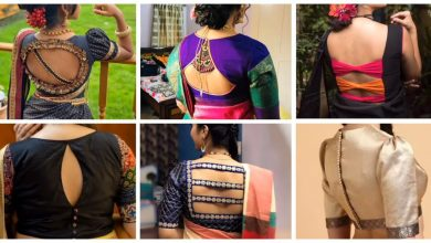 Photo of Beautiful back neck blouse designs