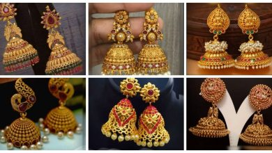 Photo of Latest Beautiful Antique  Gold Jhumka designs