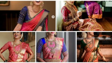 Photo of Stunning color combo bridal blouse design