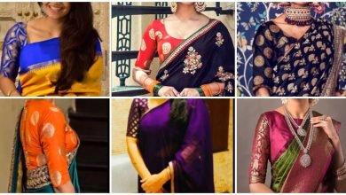 Photo of Rich look With Brocade Blouse Designs For Silk Saree
