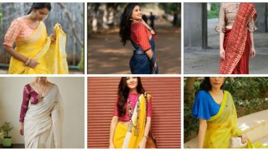 Photo of Stunning Combination Blouse Designs