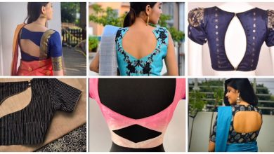 Photo of Back neck blouse designs idea