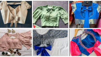 Photo of Beautiful bow blouse designs