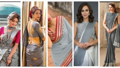 Photo of Grey saree styling for festive wedding season