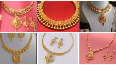 Photo of Beautiful women's gold necklace set designs